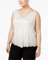 MSK Plus Size Beaded Top