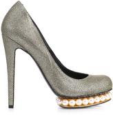 Nicholas Kirkwood Casati pearl-platform lurex pumps
