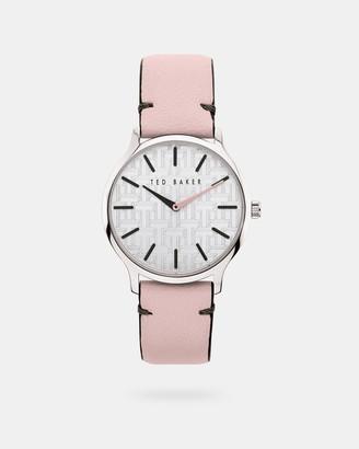 Ted Baker POPIEYA Pebble grain leather strap watch