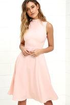 LuLu*s Make Your Pointe Peach Midi Dress