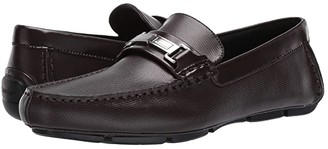 Calvin Klein Karns (Mahogany Emboss Leather/Box Leather) Men's Shoes