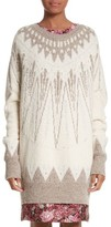ADAM by Adam Lippes Women's Marled Merino Wool & Cashmere Fair Isle Sweater