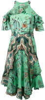 Etro multiple print cut-out dress - women - Silk - 44