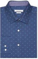 Perry Ellis Slim Fit Geometric Flower Dress Shirt