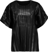 Alexander Wang Pleated faux leather T-shirt