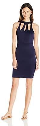 Women's Summer Elegant Casual Slim Fit Halter Neck Sleeveless Mini A Line Dress