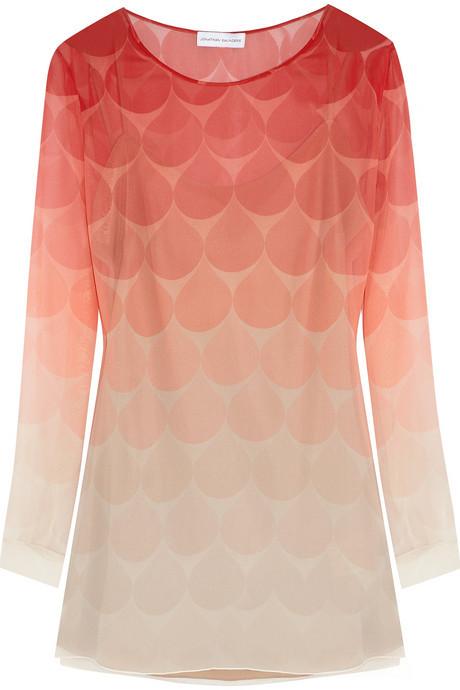 Jonathan Saunders Curzon silk-georgette dress
