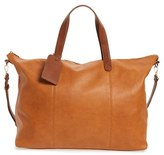 Sole Society 'Candice' Oversize Travel Tote - Brown