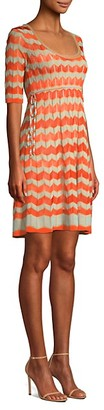 M Missoni Tie-Side Empire Knit Dress