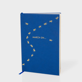 Paul Smith Sloane Stationery - Navy Creepy Crawley Ants Notebook