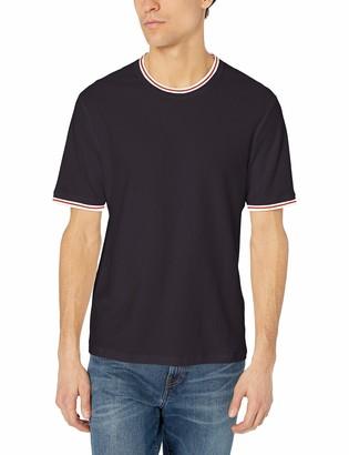 French Connection Men's Short Sleeve Reg Fit Solid Color Crew Neck Cotton T-Shirt