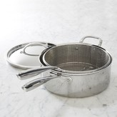 Williams-Sonoma Williams Sonoma Stainless-Steel Thermo-CladTM; Deep Saute with Fryer Basket