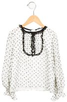 Dolce & Gabbana Girls' Silk Floral Print Top