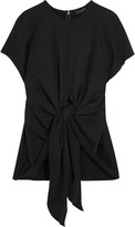 Ellery Kitty tie-front satin-crepe top