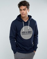 Jack and Jones Core Hoodie With Brand Graphic