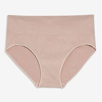 Joe Fresh Women+ High-Waist Brief, Dusty Rose (Size 2X)
