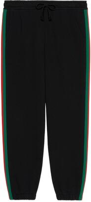 Gucci The North Face x Web print cotton jogging bottoms