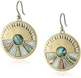 Lucky Brand Abalone Circle Drop Earrings