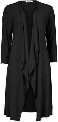 Masai Ibone 3/4-Sleeve Solid Jersey Cardigan