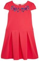 Us Angels Girls' Textured Drop-Waist Dress