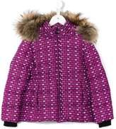 Fendi Bag Bugs eye print down coat