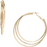 Carole Goldtone Triple-Layer Hoop Earrings
