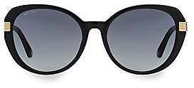 Jimmy Choo Women's 56MM Oval Gemstone Sunglasses