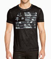 William Rast Camo Flag Graphic Tee