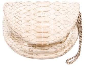 Chanel Python Frame Clutch