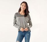 Splendid Ribbed Pullover Stripe Sweater - Bonfire
