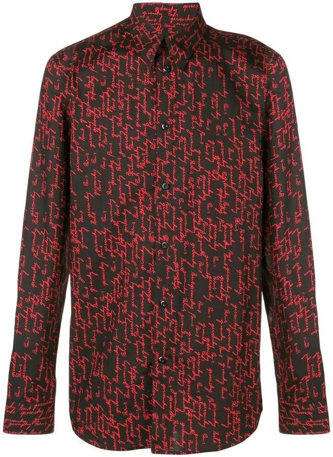 Givenchy signature print shirt