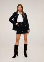 MANGO Tweed buttoned miniskirt black - 2 - Women