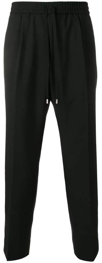 Gucci drawstring fitted trousers