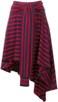 Sonia Rykiel striped asymmetric skirt