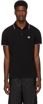 Moncler Black Logo Patch Polo
