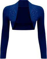 Xclusive Collection Womens Beaded Sequin Design Bolero Shrug Cardigan Tops M us 8-10