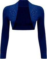 Xclusive Collection Womens Beaded Sequin Design Bolero Shrug Cardigan Tops S us 4-6