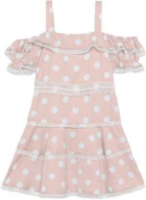 Bardot Junior Isola Knit-Trim Polka-Dot Dress, Size 8-16