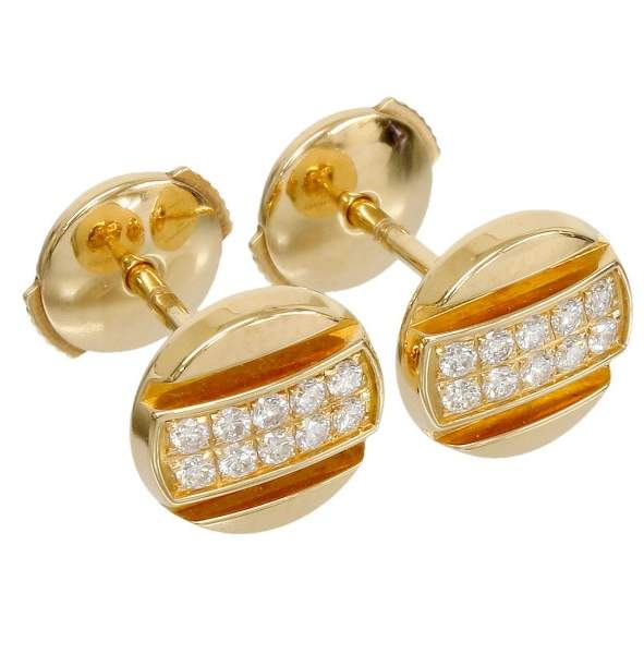 Chaumet 18K Rose Gold & Diamonds Earrings