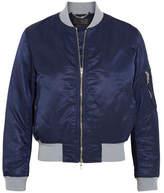 Rag & Bone Manston Jersey-trimmed Satin Bomber Jacket