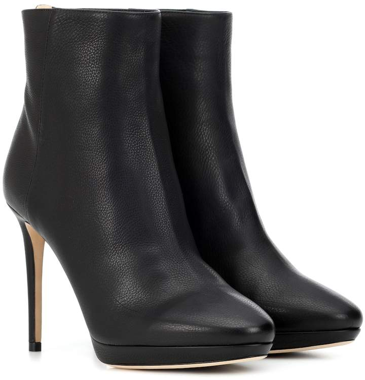 Jimmy Choo Harvey 100 leather ankle boots