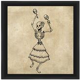 PTM Images Sepia Skeleton Dance Framed Print