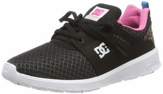 DC Shoes (DCSHI) Heathrow Tx Se-Shoes for Women Low-Top Sneakers (Black/Pink/Black) 3 UK