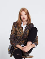 Double-breasted floral print jacket