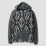 Burnside Boys' Aztec Printed Hoodie Sweatshirt - Black