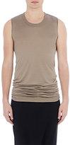 Rick Owens Men's Silk Sleeveless T-Shirt-BEIGE, GREY