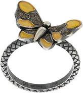 Bottega Veneta butterfly diagonal ring