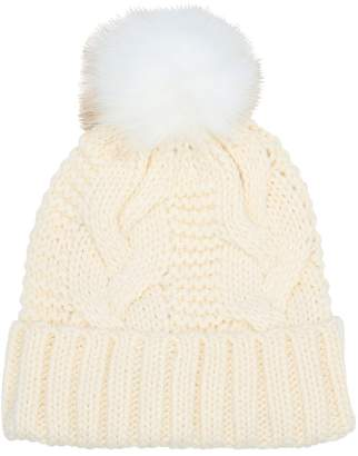 M&Co Cable knit pom pom hat