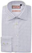 Thomas Pink Belcher Slim Fit Grid Pattern Dress Shirt