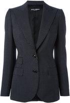 Dolce & Gabbana polka dot blazer - women - Cupro/Virgin Wool - 42